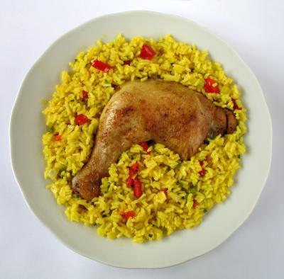 Demasiado arroz para tan poco pollo